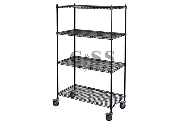 Mobile Black Wire Shelving 6