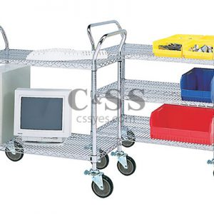 Mobile Service Carts with Wire Shelving 6