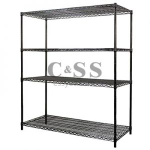 Wire Shelving Stationary Black 6