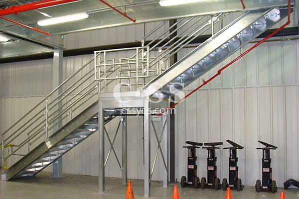 Mezzanine Stairs with Intermediate Landing 6