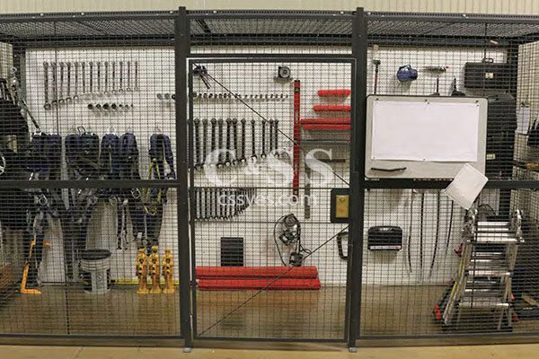 Wire Partition Tool Crib Storage 6