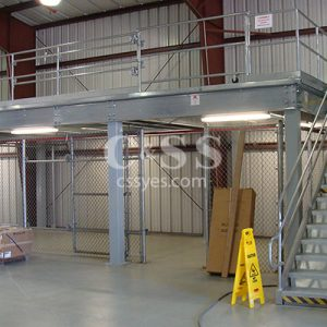 Storage Mezzanine with Stairs 6