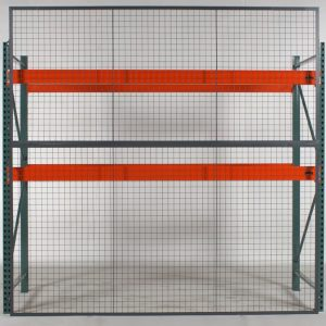 RackBack pallet rack backing safety panels front view