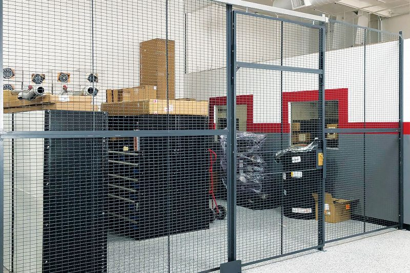 Wire Security Cage For Auto Repair Shop Category