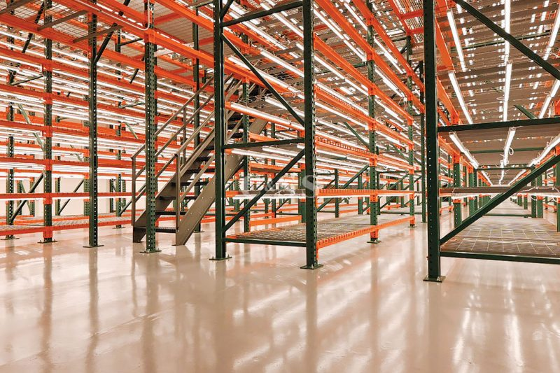 Pallet Rack Supported Catwalk For Global Company